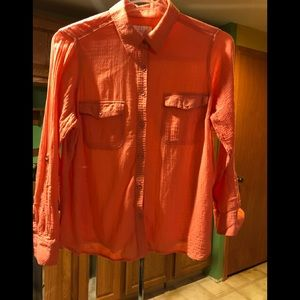 Lightly worn long sleeve button down shirt.